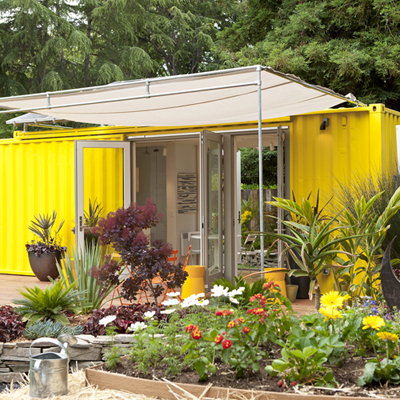 shipping container outbuilding
