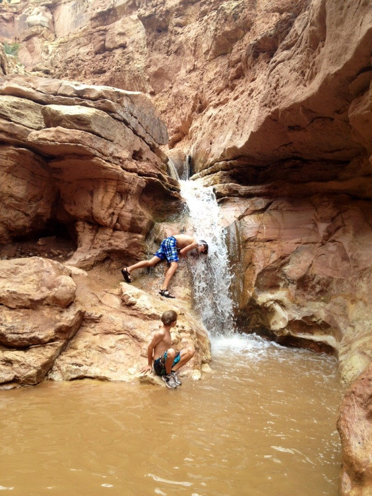 waterfall, Sulfur creek, Capitol Reef UT