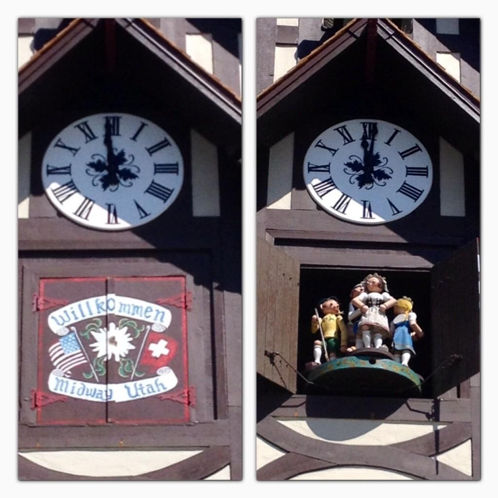swiss tower clock