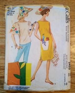 1961 vintage dress and hat pattern