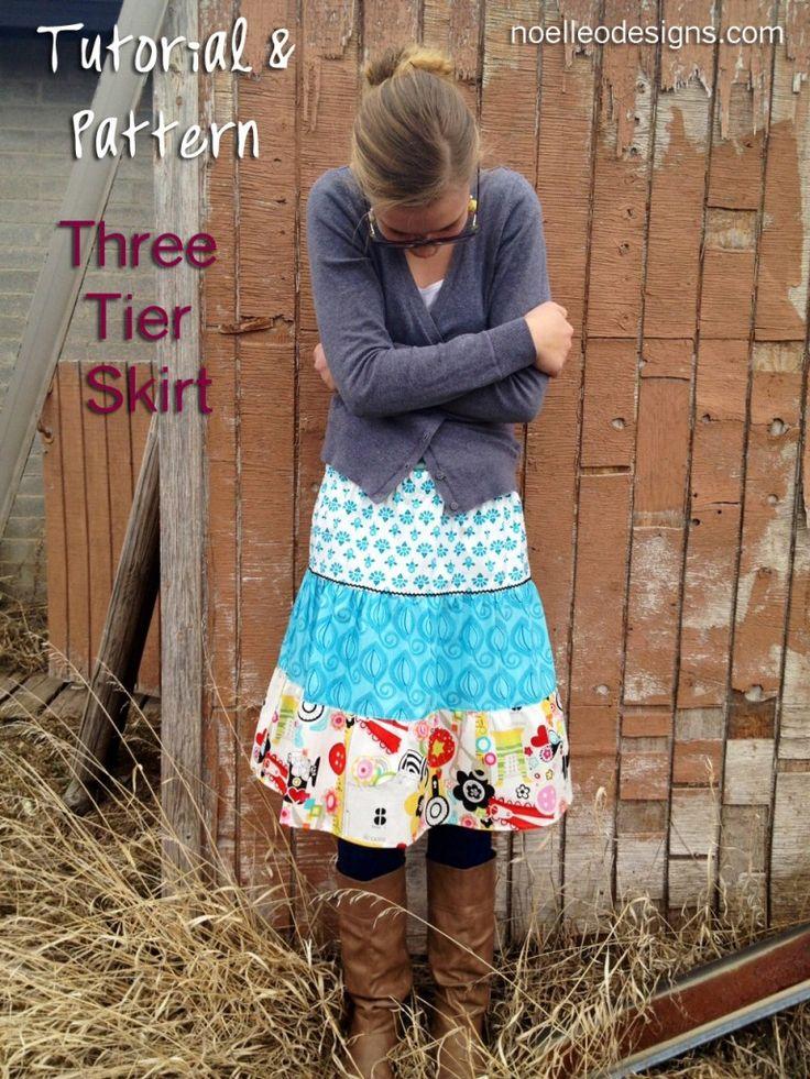 3 tier skirt pattern image