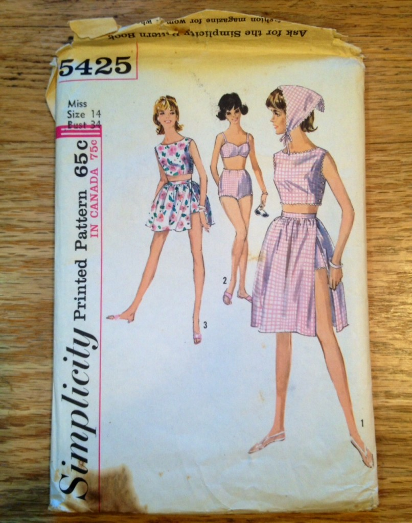 bathing suit pattern 1963