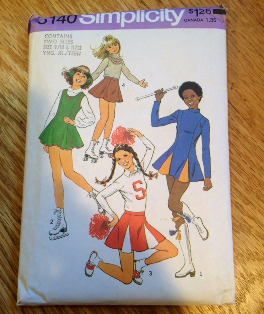 cheerleader costume pattern 1977