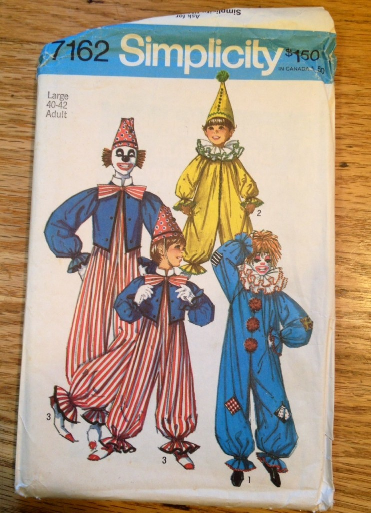 clown costume 1975