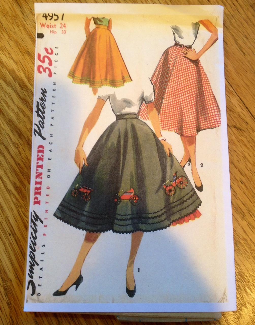 Vintage Poodle Skirt Pattern
