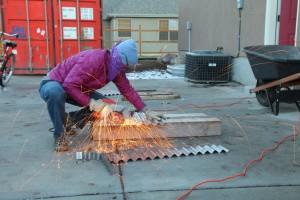 cutting corrugated metal