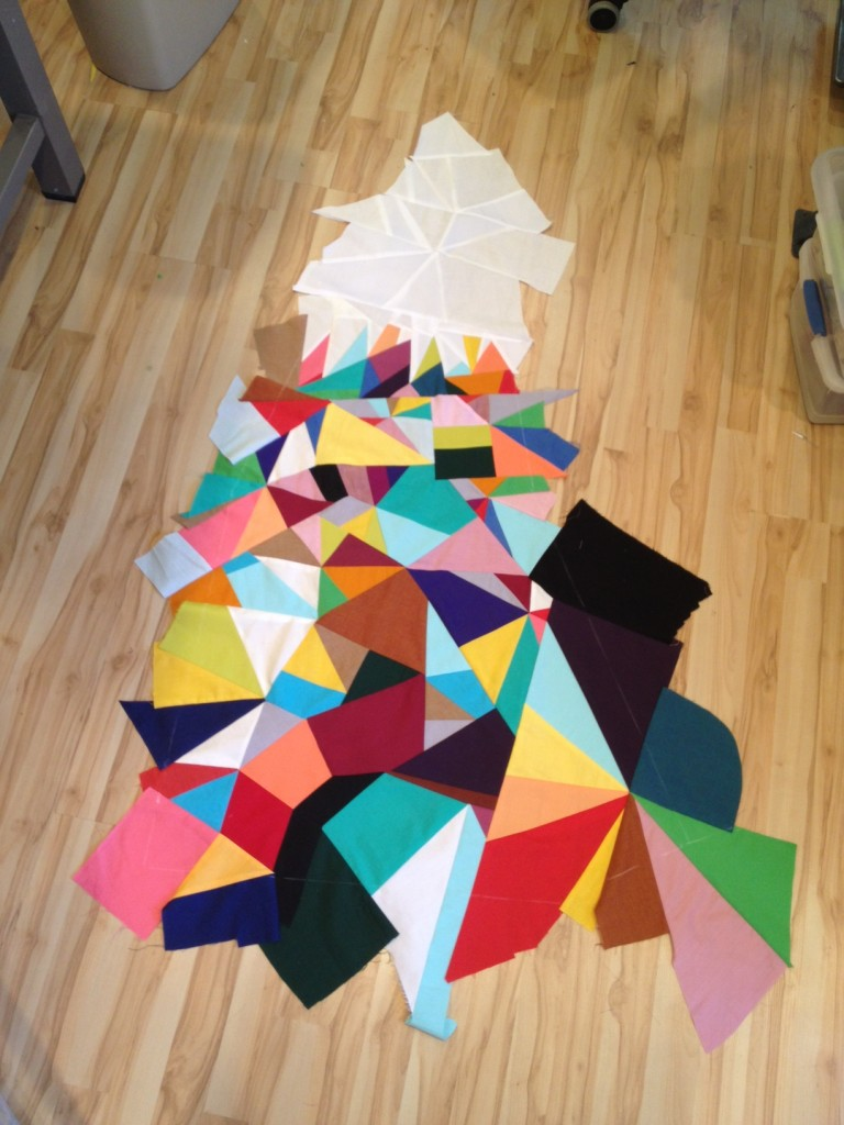 triangle mountain quilt