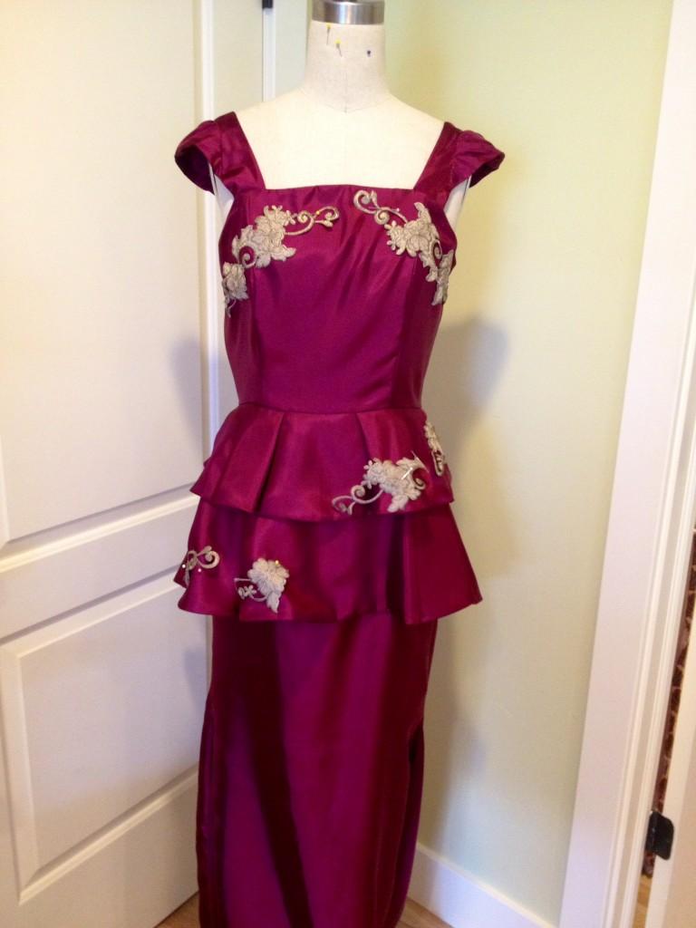 formal dress embroidered embellishments