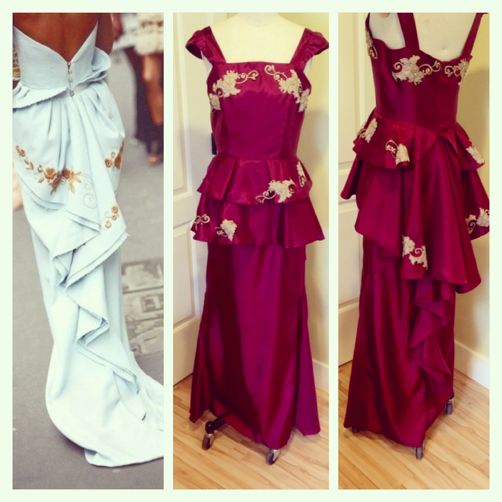 inspiration making a peplum prom dress