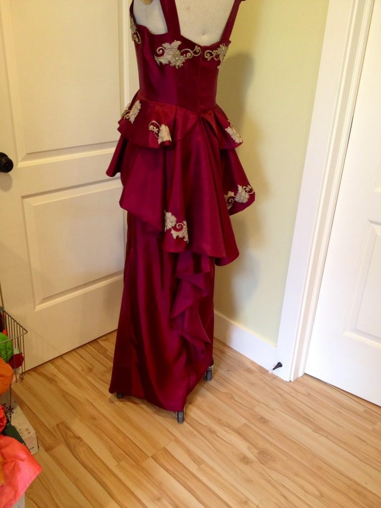 making a peplum prom dress