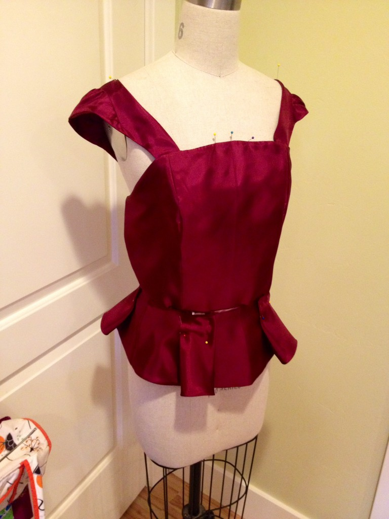 dress bodice making a peplum prom dress