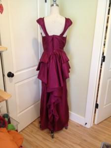 dress with peplum, back