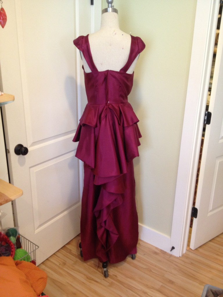 dress with peplum, back making a peplum prom dress