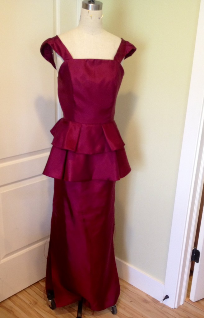 dress with peplum making a peplum prom dress