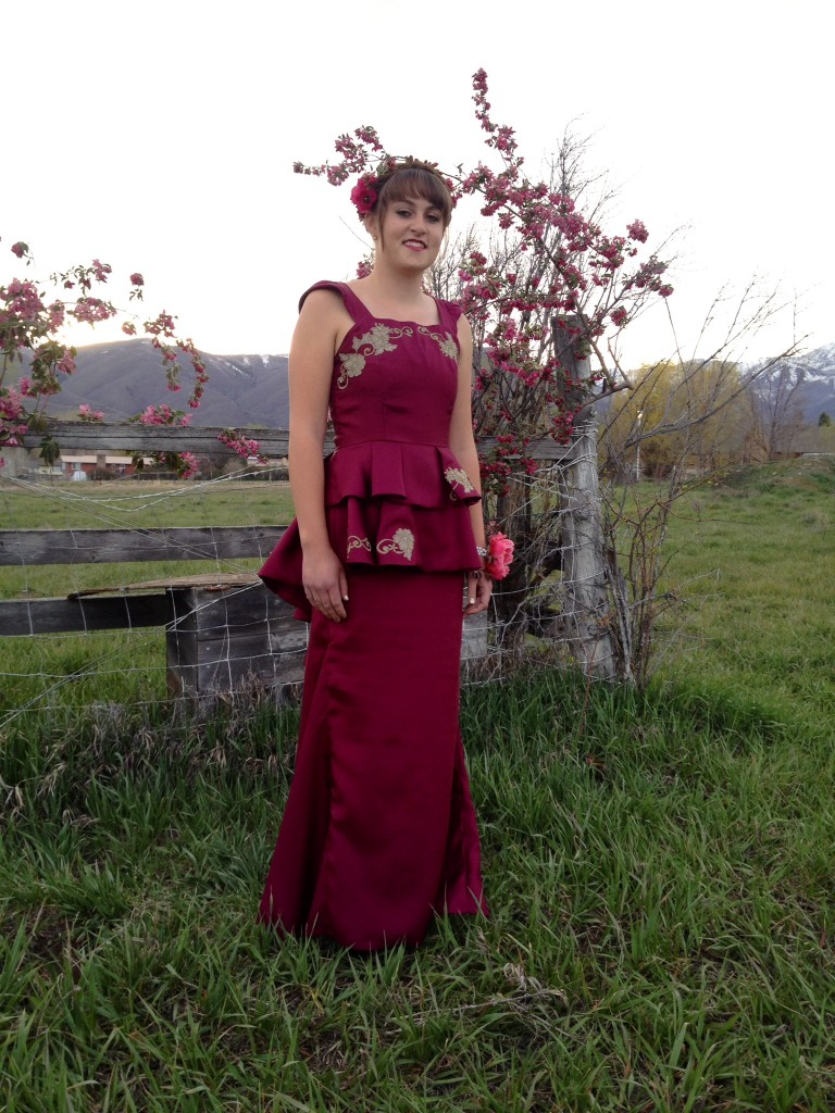 prom dress front peplum
