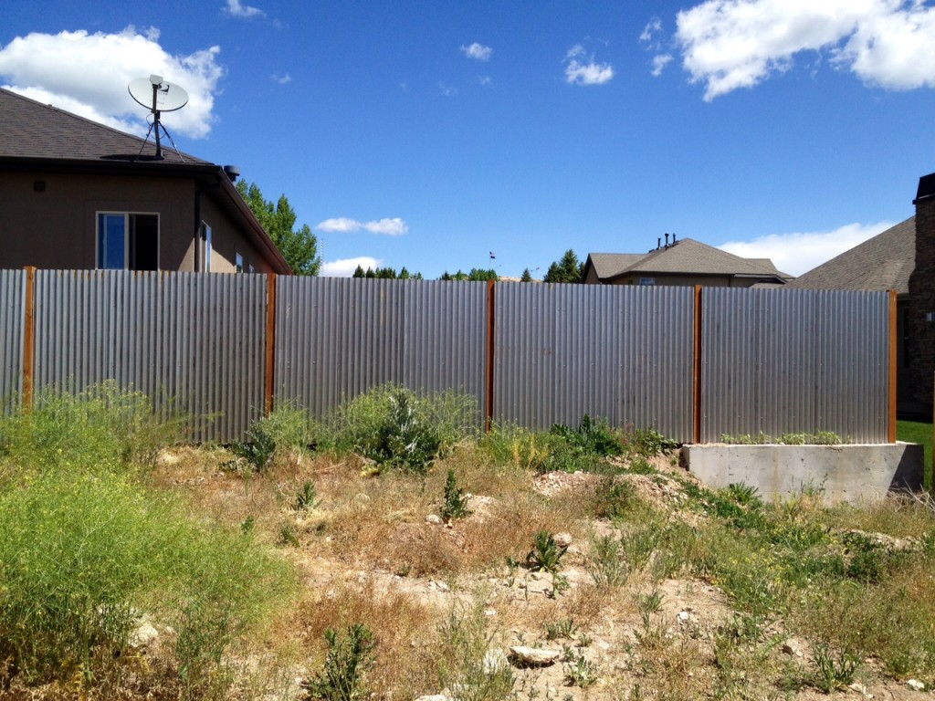 Corrugated metal fence update noelle o designs