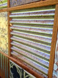 rusting corrugated metal