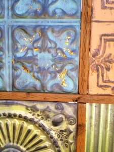 tin ceiling tile fence