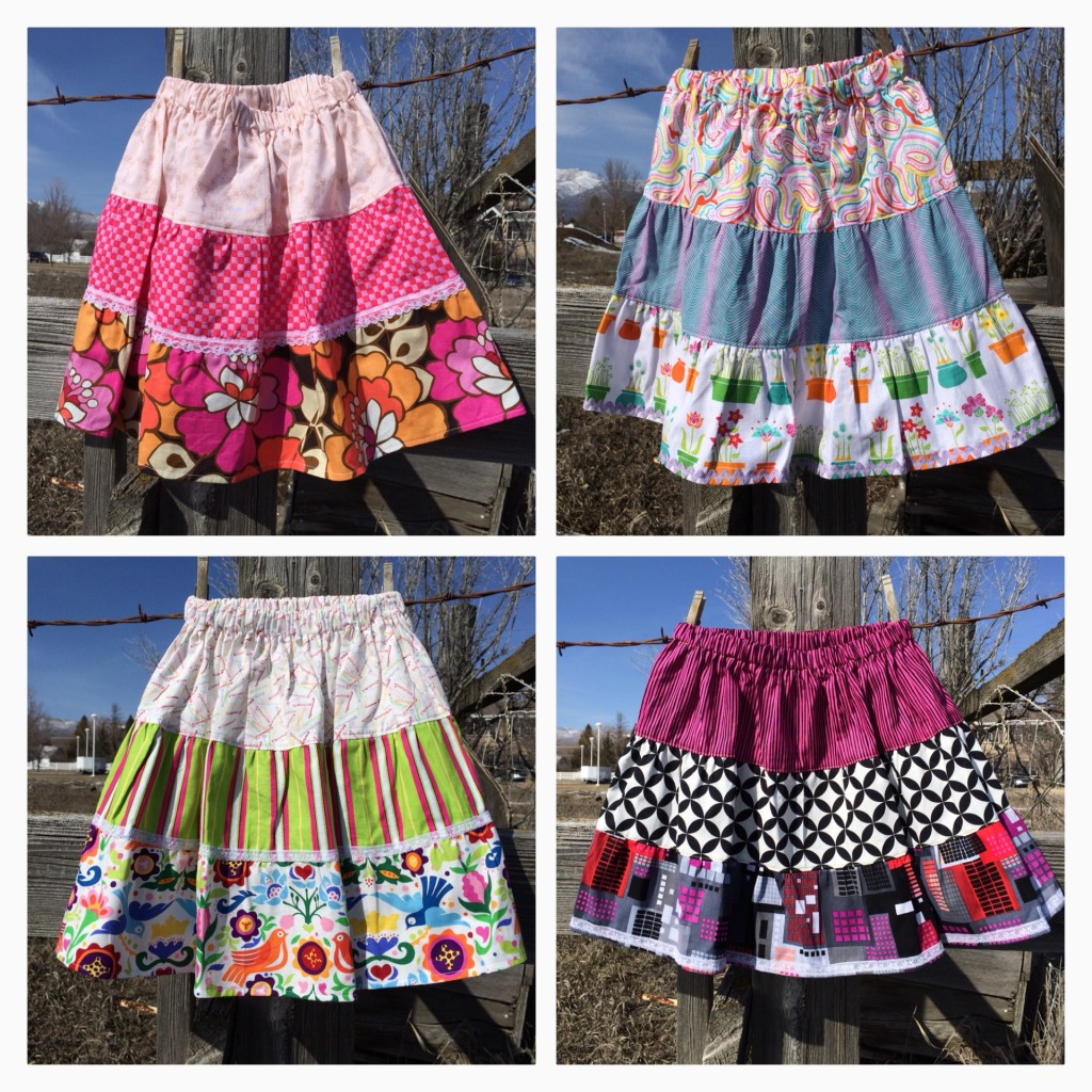girls tier skirts