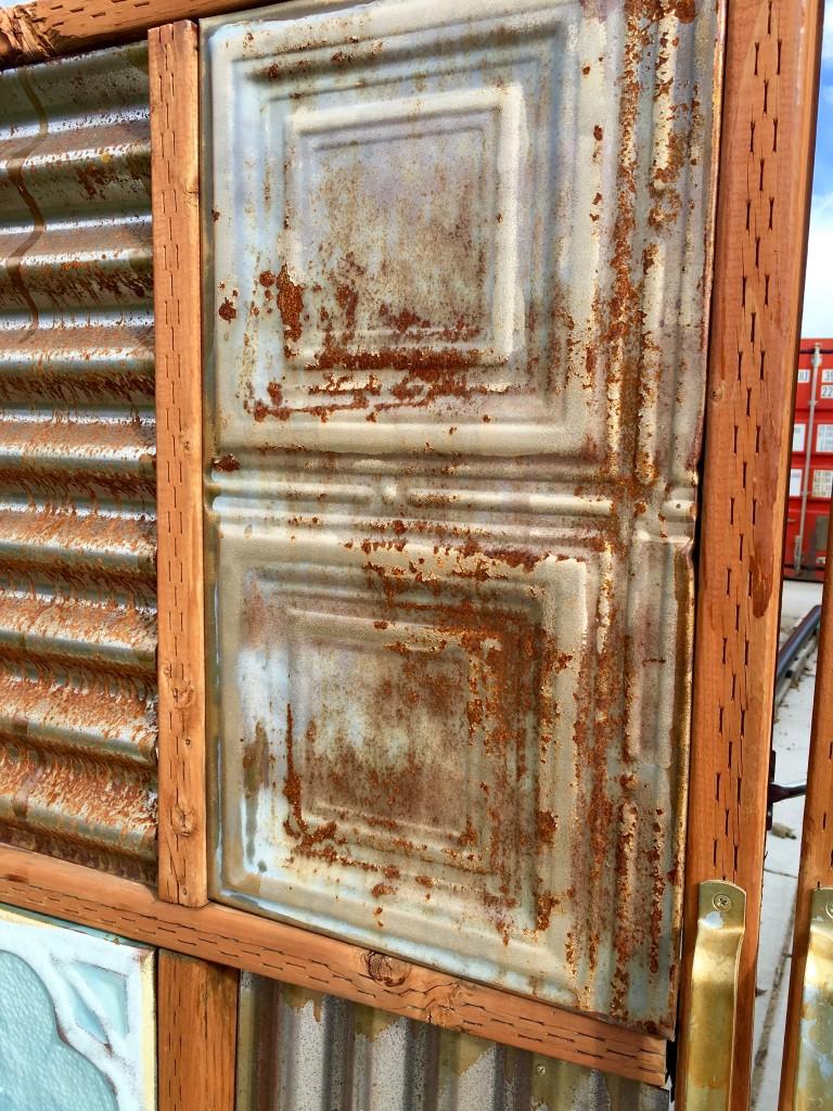 rust on metal fence