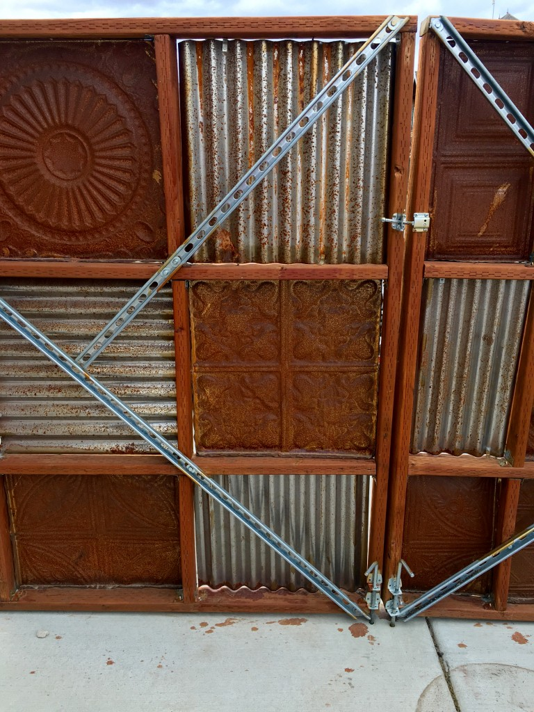 tin ceiling tiles in fence