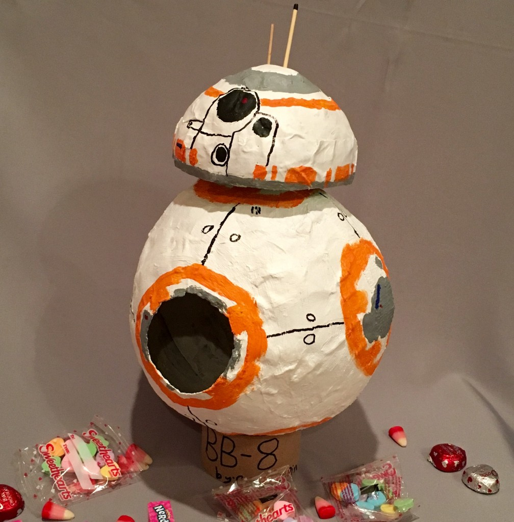 BB8 droid Star Wars paper mache valentine box