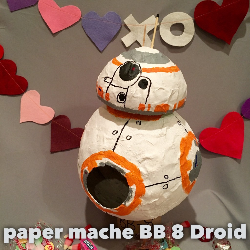 BB8 droid paper mache