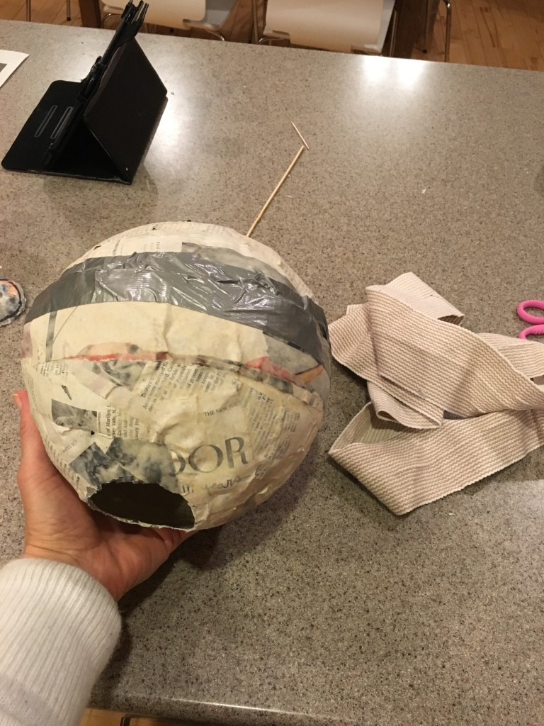 duct taping ball together