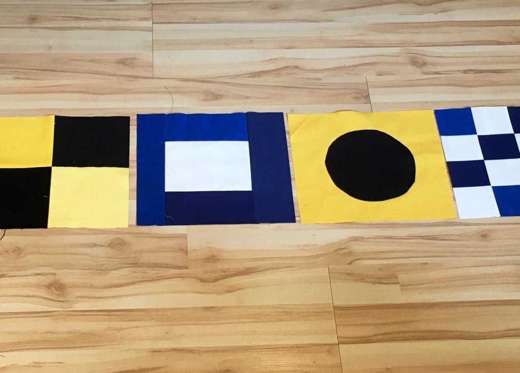 nautical flag quilt piecing
