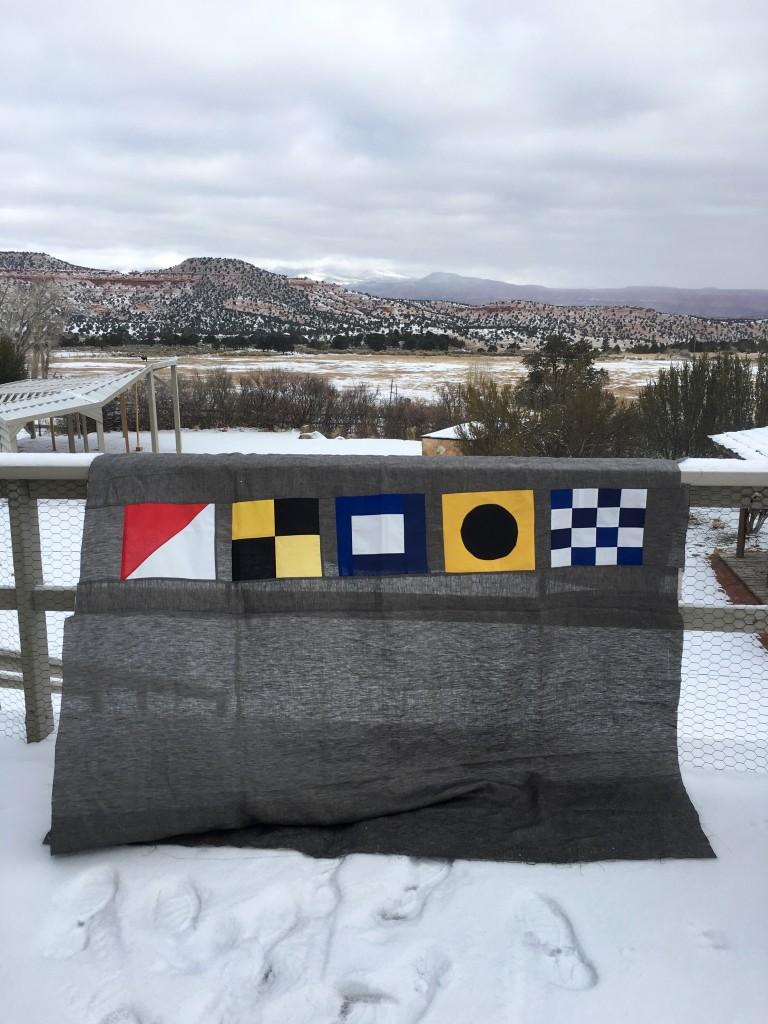 nautical flag quilt top
