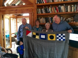 nautical flag quilt with tribal elders