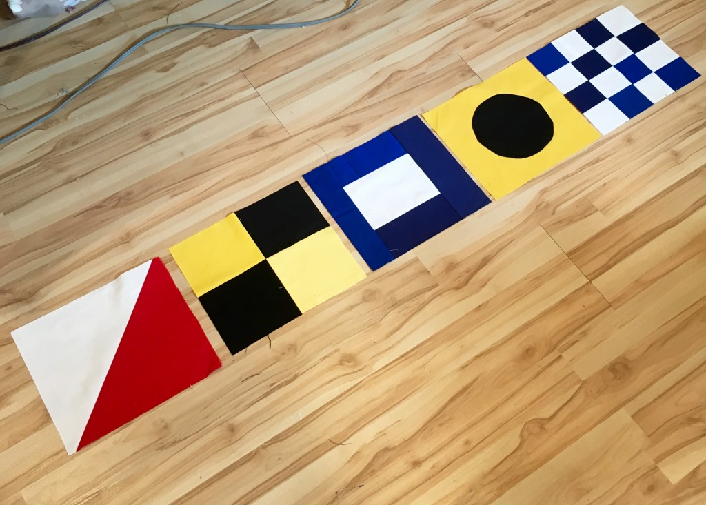 piecing nautical flags