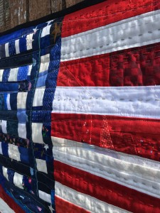 am flag top stitch