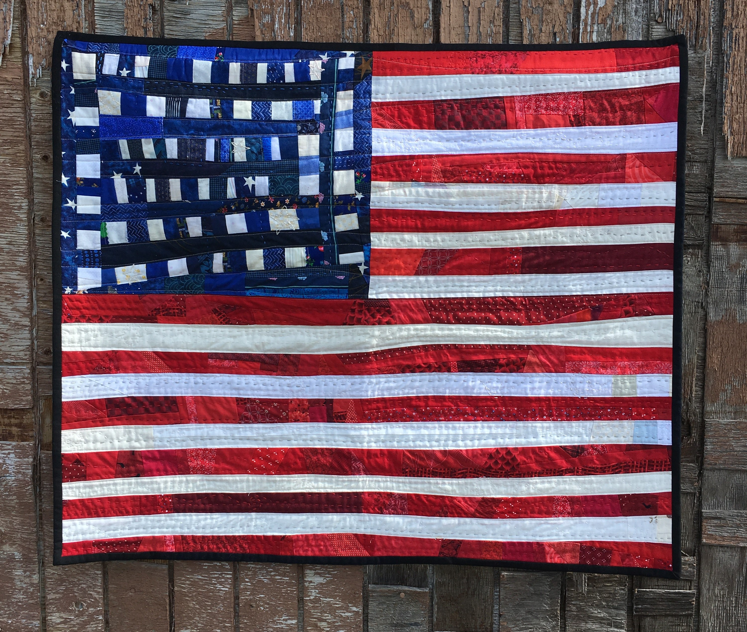 American Flag quilt by Noelle Olpin
