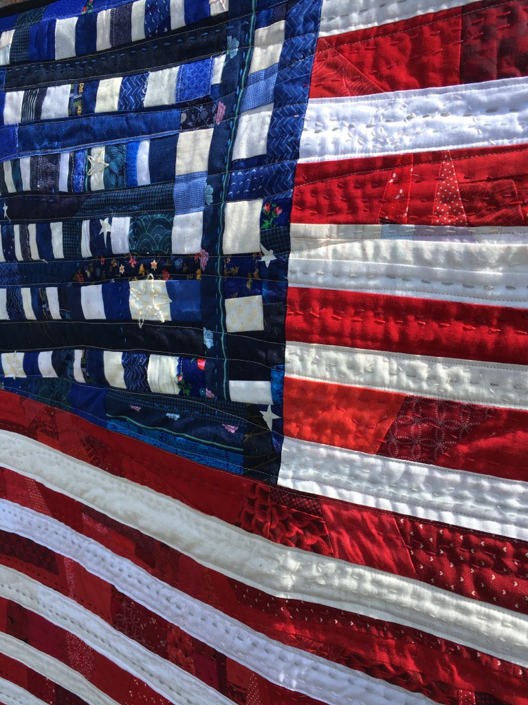 topstitching on american flag