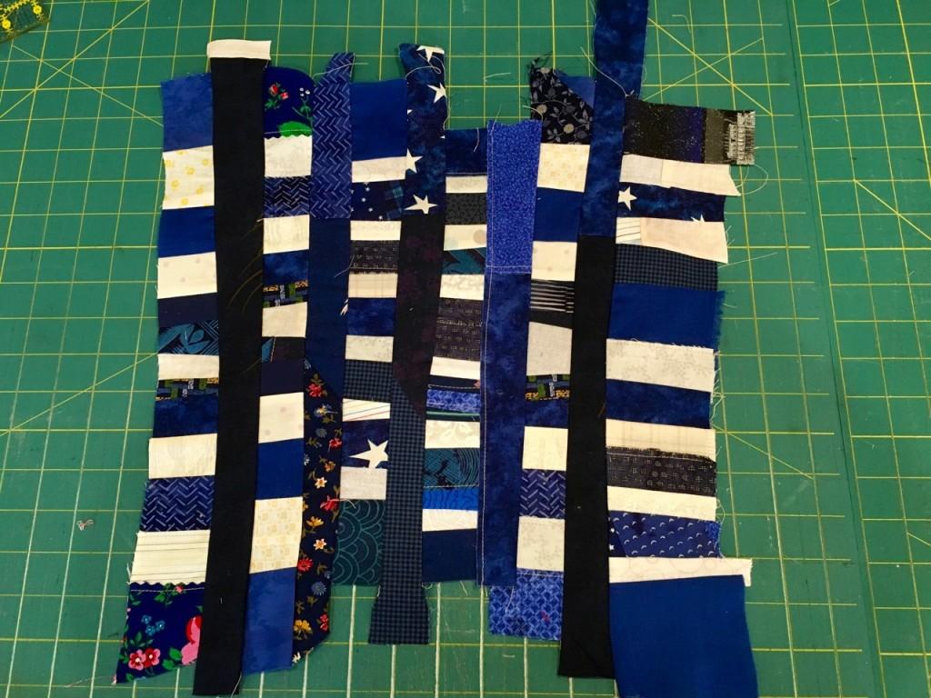 making the stars for flag quilt