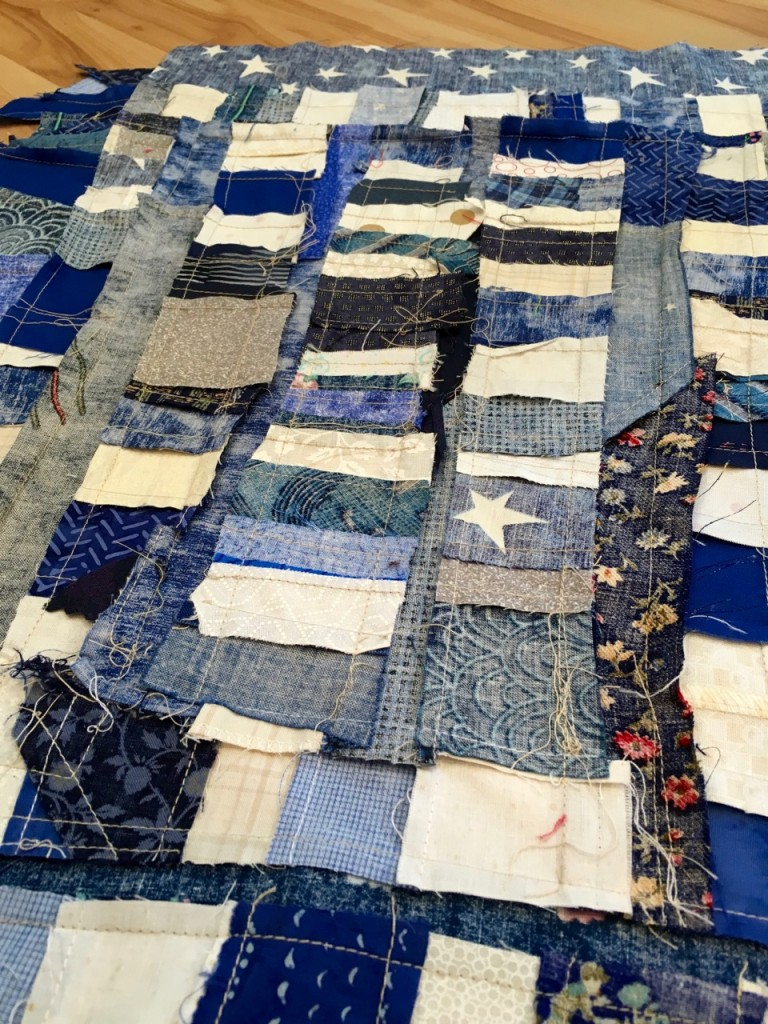 american flag quilt, abstract stars