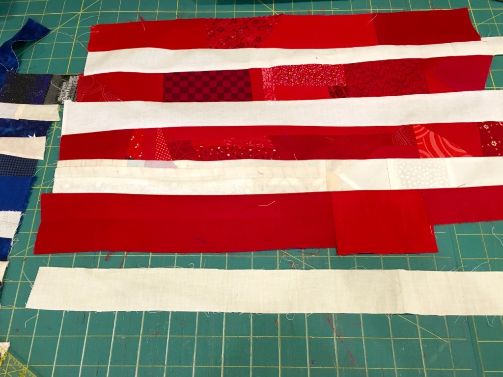making an american flag quilt