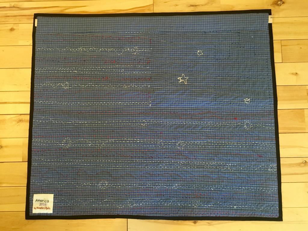 back of flag quilt
