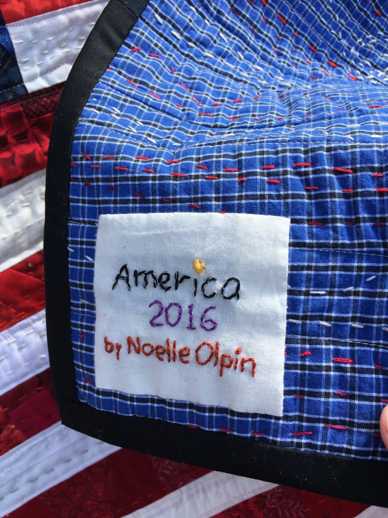flag quilt signature