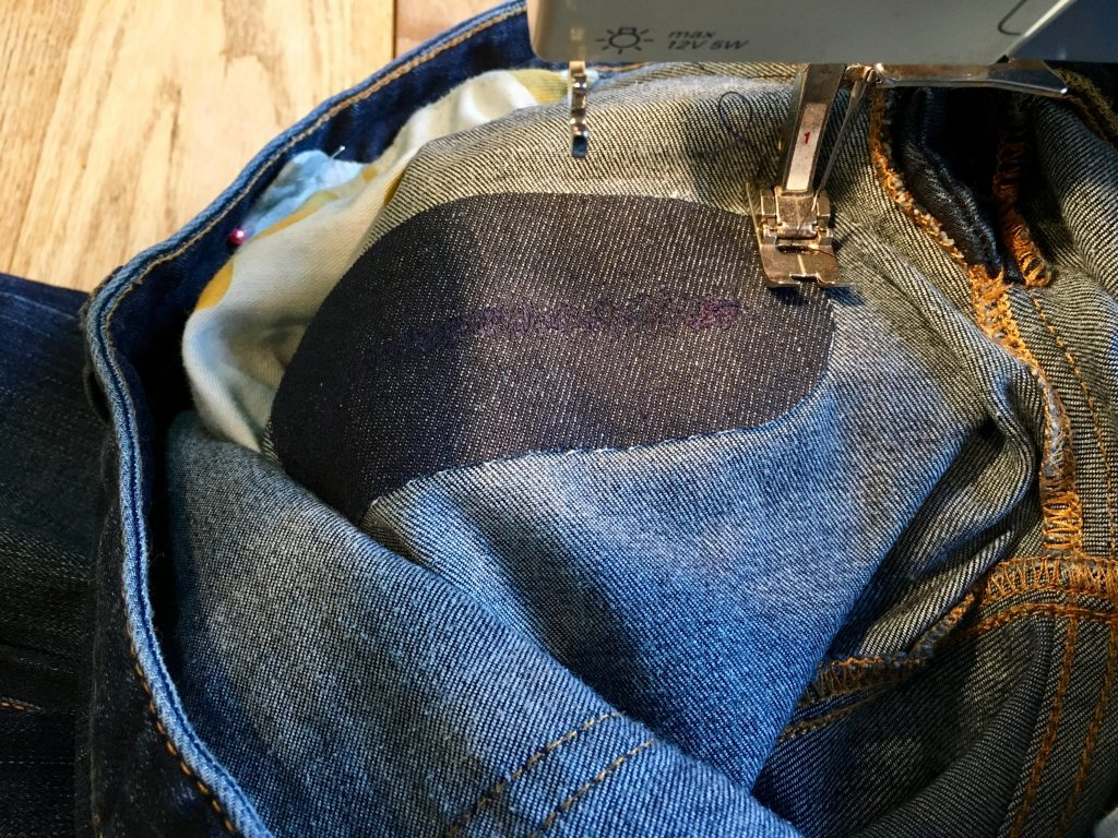 sewing an iron on patch