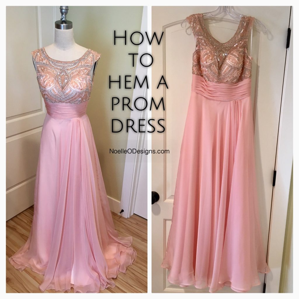how to hem a prom dress