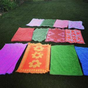 vintage towels DIY