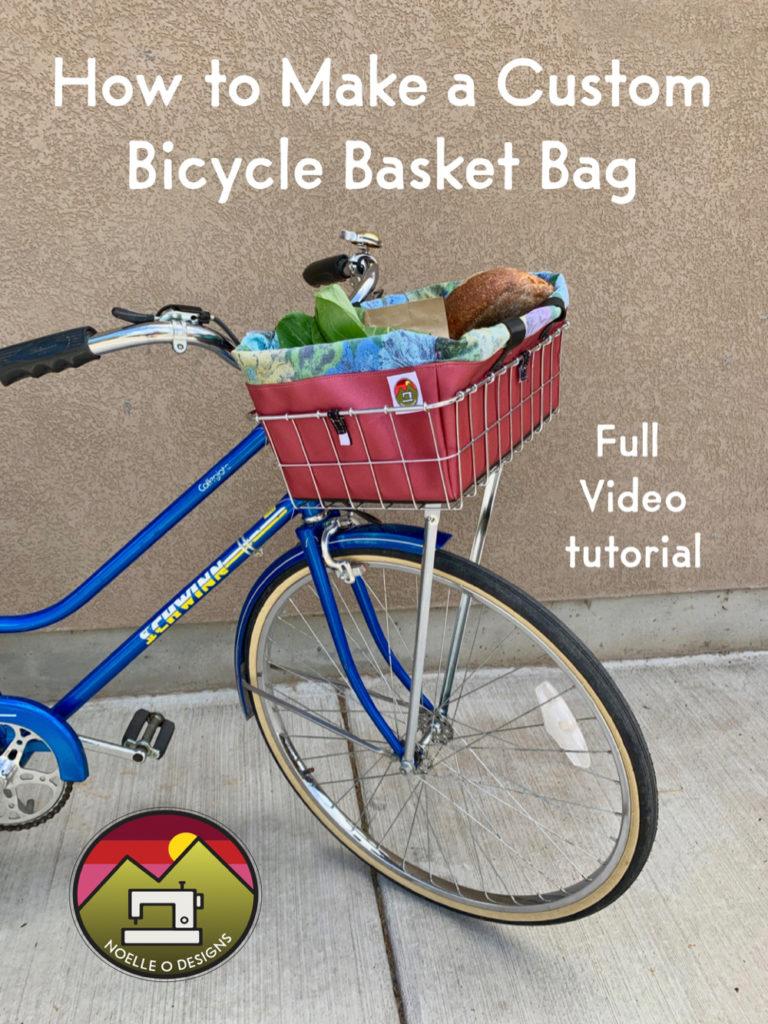 bicycle basket bag tutorial