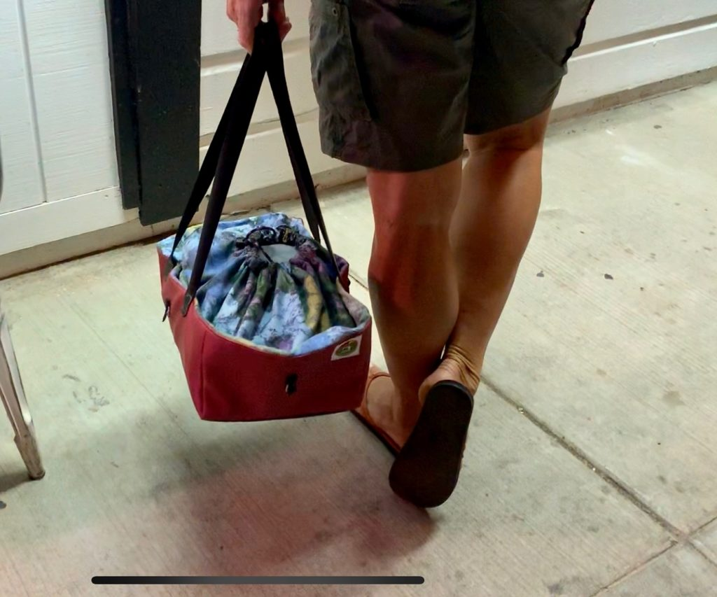 Drawstring closure keeps your goods safely inside, on or off the bike.