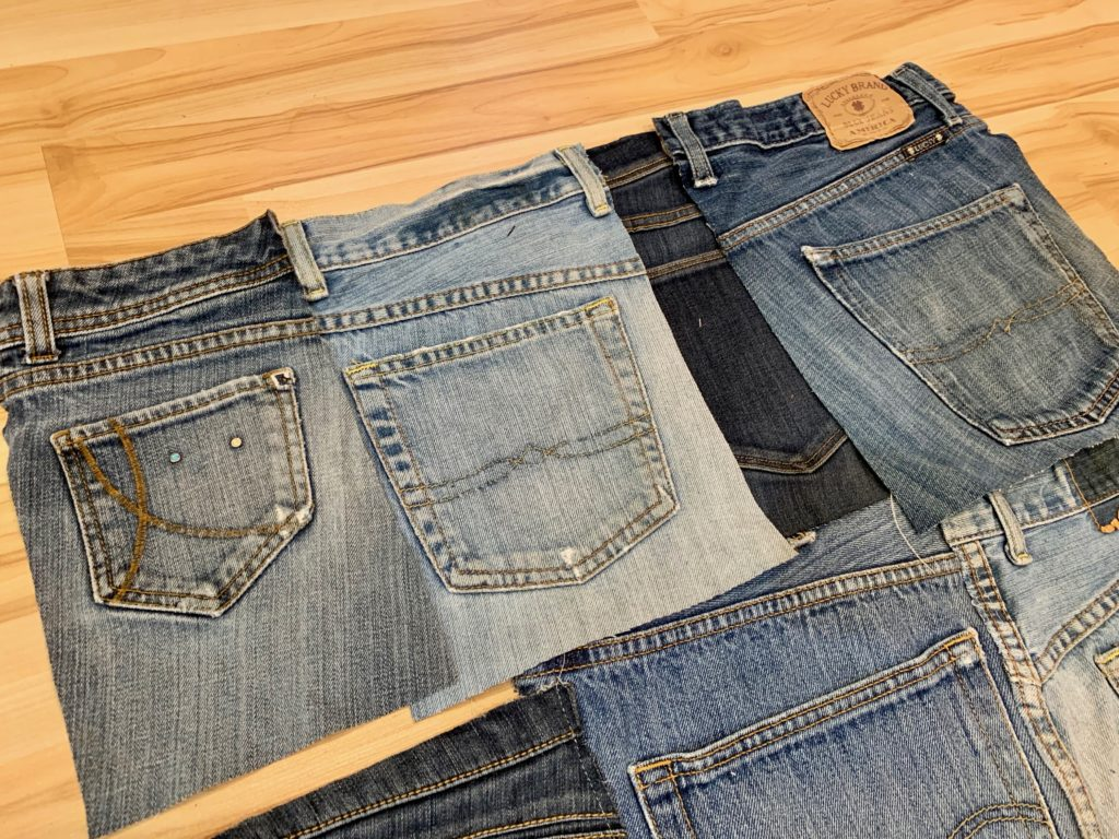 upcycling jeans project