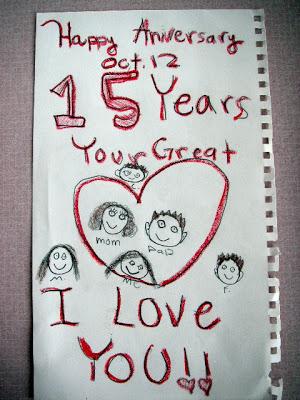 happy anniversary funny kid note