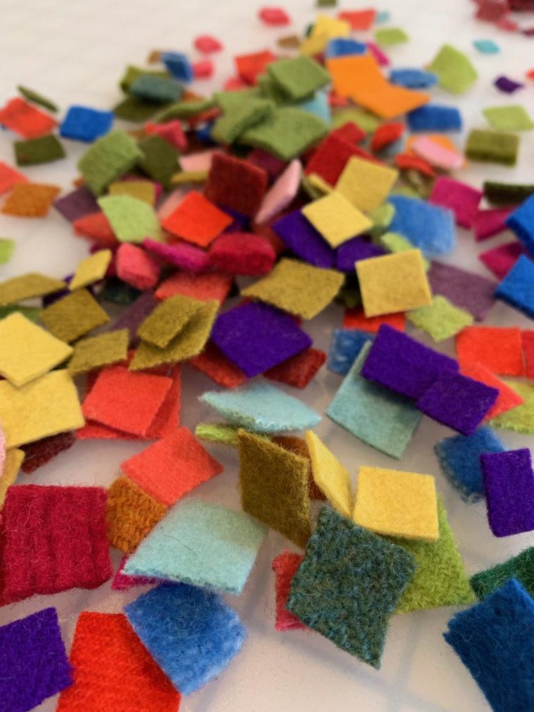 wool felt squares