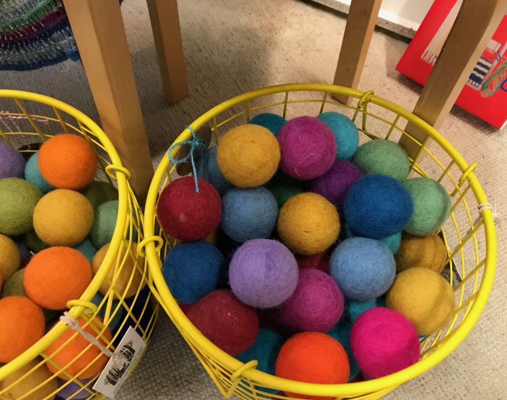 large wool felt balls
