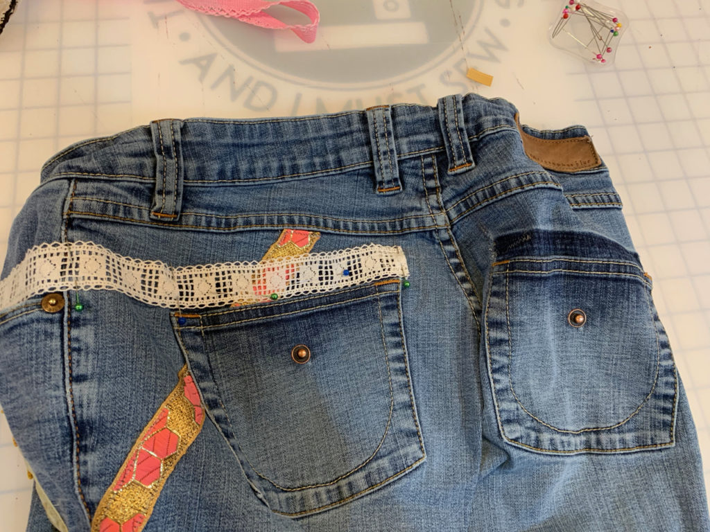 Anthropologie jeans embellishment hack
